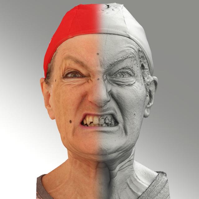 Head Woman White Average 3D Scans