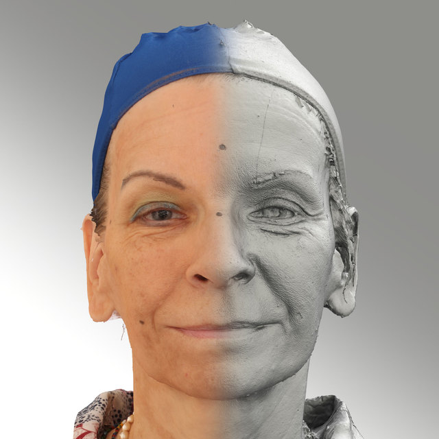 Head Emotions Woman White Slim 3D Scans