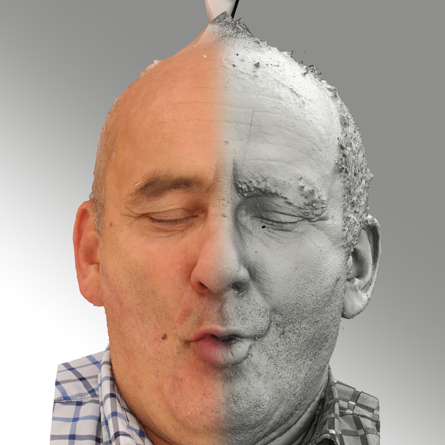 and more Head Phonemes Man White Average Bald 3D Scans