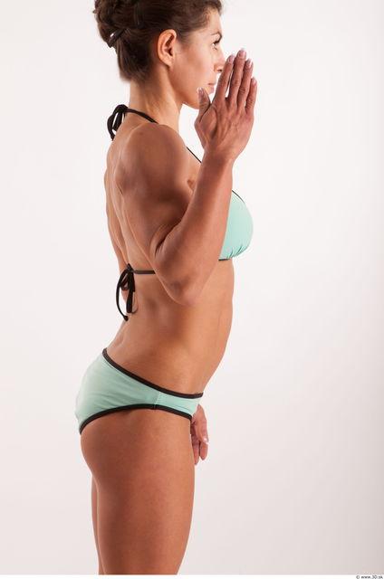 Woman White Underwear Muscular
