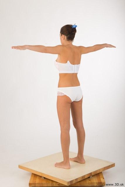 Whole Body Woman T poses Underwear Studio photo references
