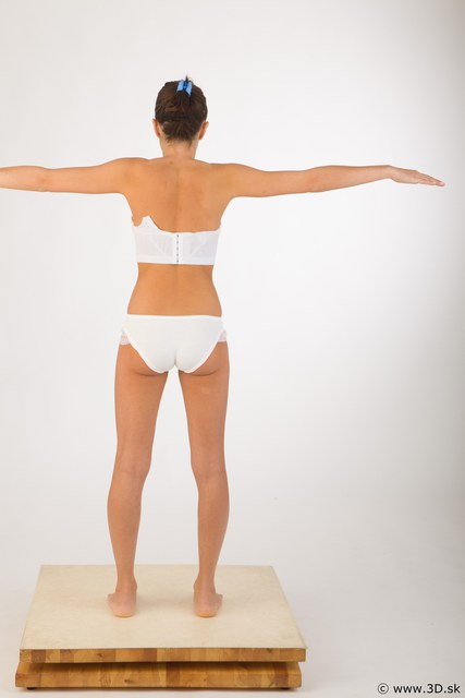 Whole Body Woman T poses Underwear Studio photo references