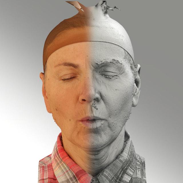 Head Phonemes Woman White Slim 3D Scans