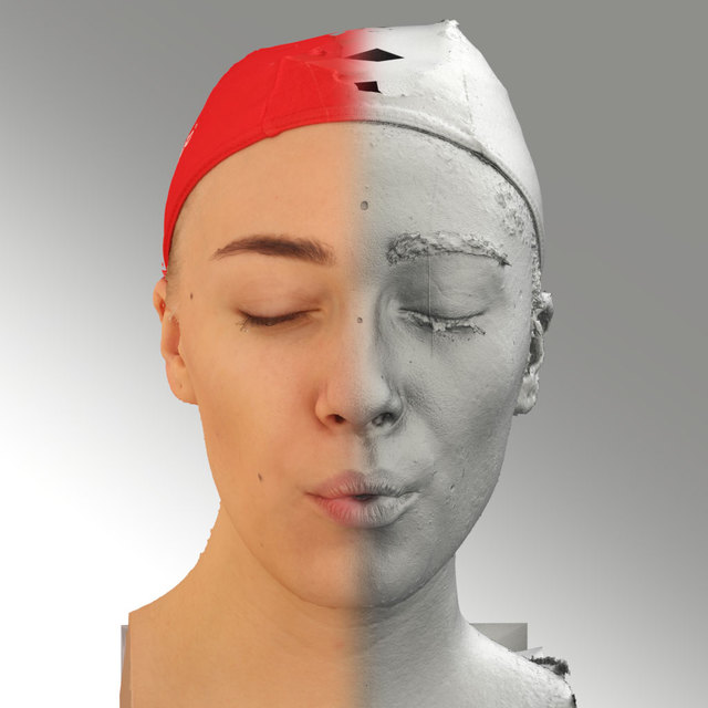 Head Phonemes Woman White Slim 3D Scans