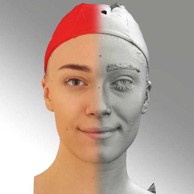Head Woman White Slim 3D Scans