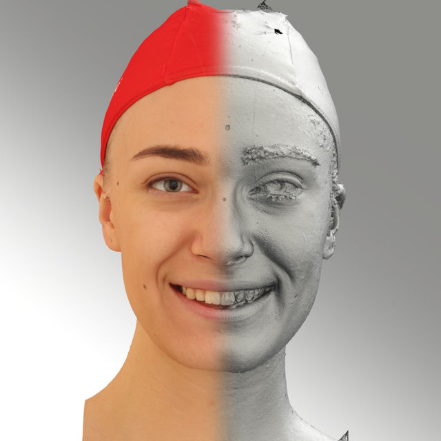 Head Woman White Slim 3D Scans