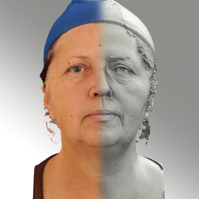Head Emotions Woman White 3D Scans