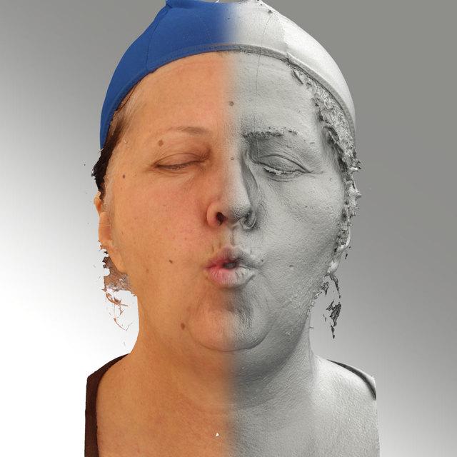 Head Phonemes Woman White 3D Scans