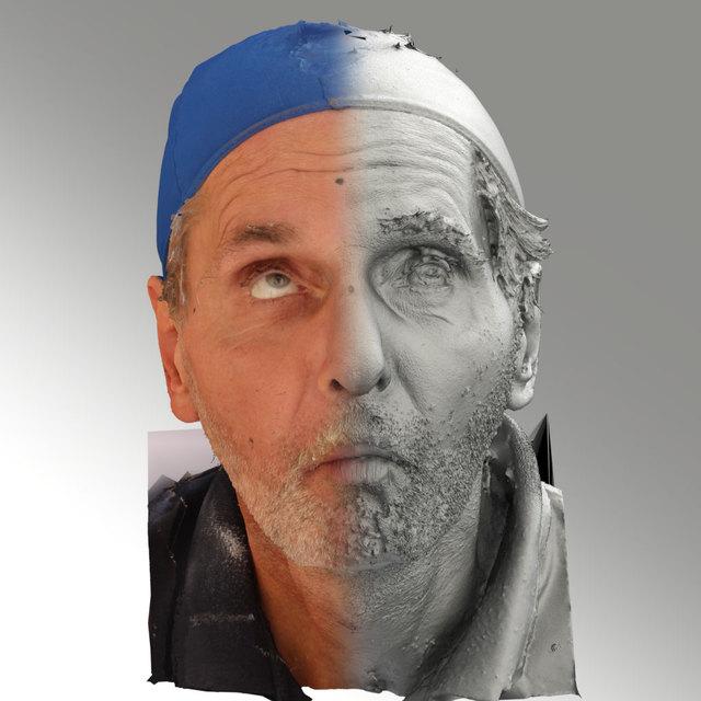 Head Phonemes Man White Slim 3D Scans