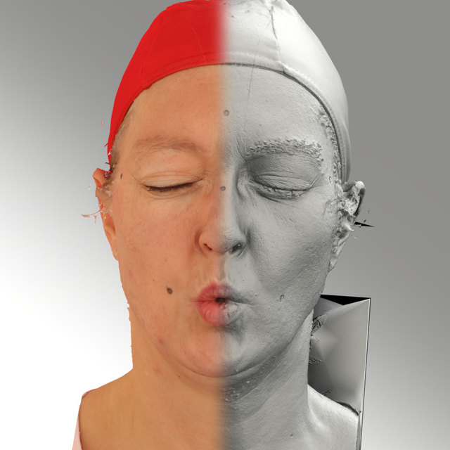 Head Phonemes Woman White Average 3D Scans