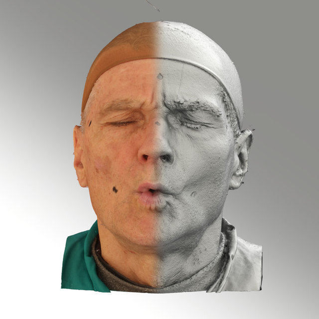 Head Phonemes Man White Average 3D Scans