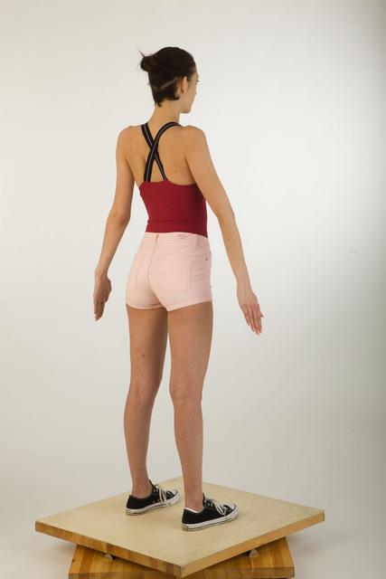 Whole Body Woman Casual Average Studio photo references