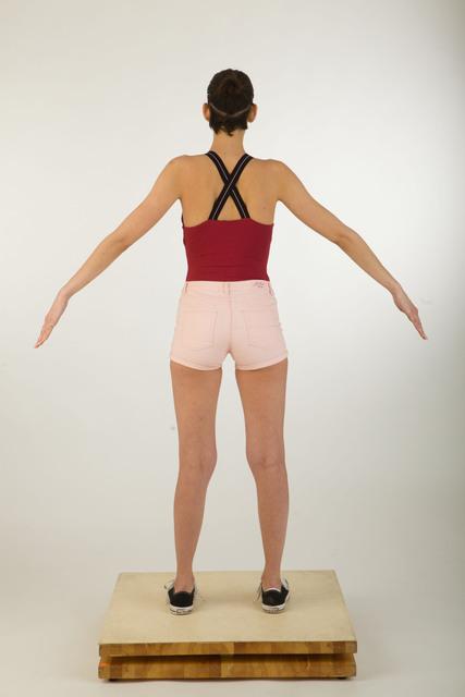 Whole Body Woman Average Studio photo references