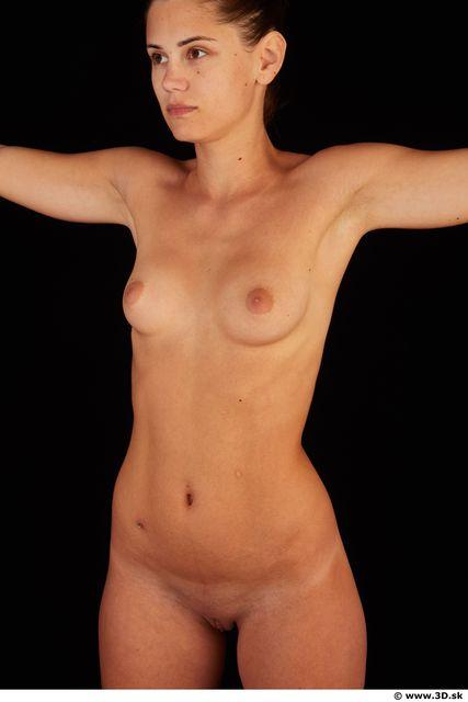 Upper body nude of Little Caprice