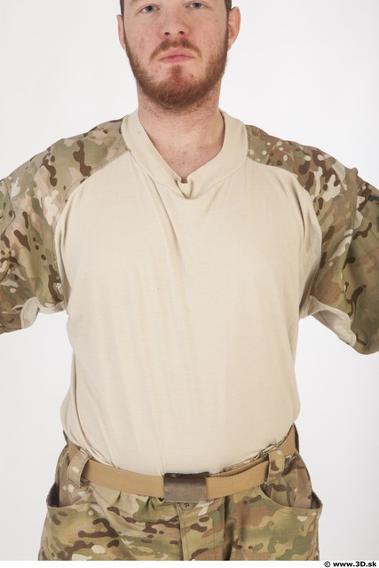 Soldier in American Army Military Uniform