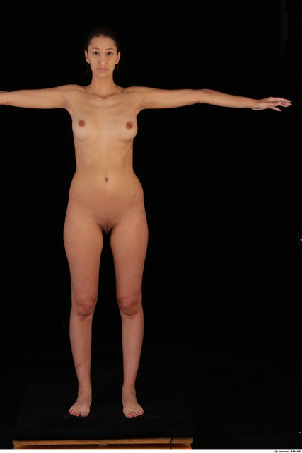 Woman T poses Nude Slim Studio photo references