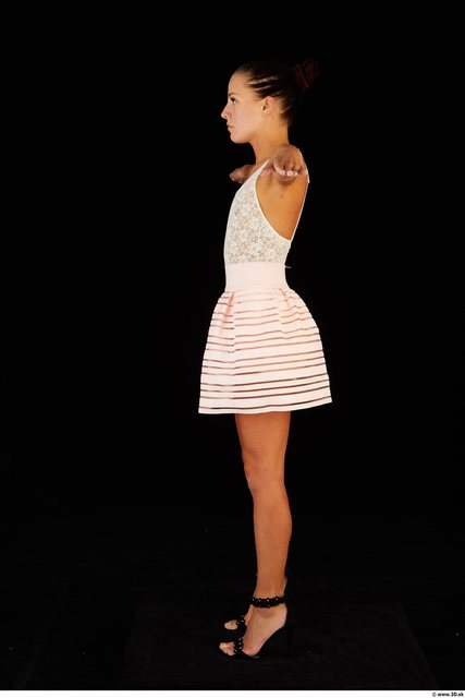 Whole Body Woman T poses Casual Dress Slim Studio photo references