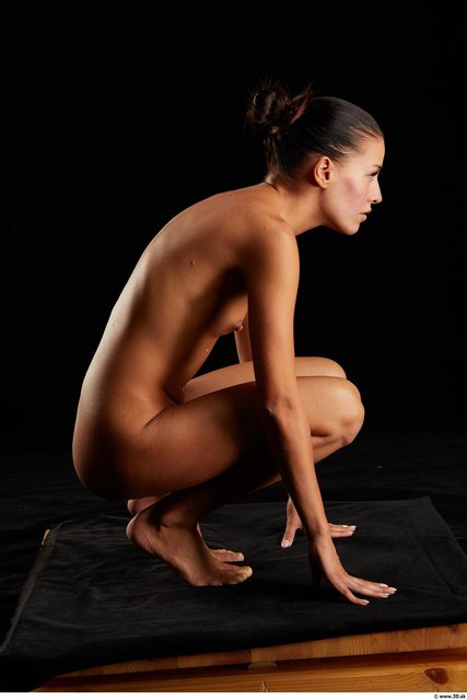 Woman Nude Kneeling