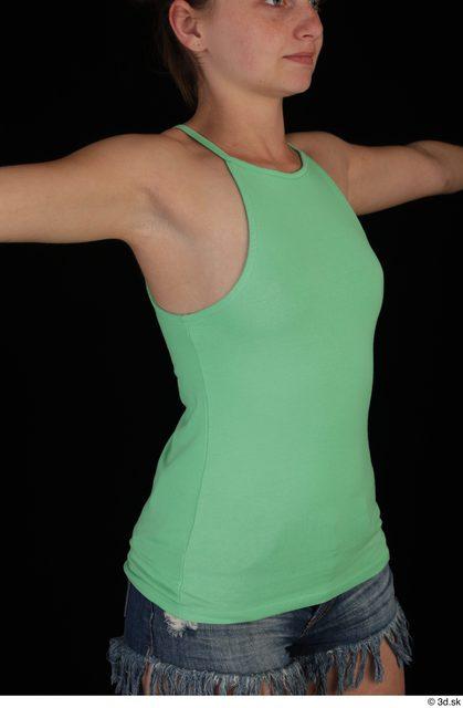 Upper Body Woman Casual Slim Studio photo references