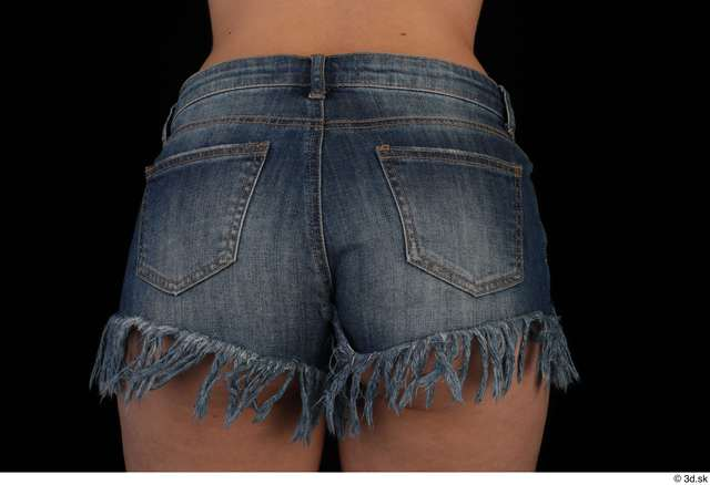 Hips Woman Casual Shorts Slim Studio photo references