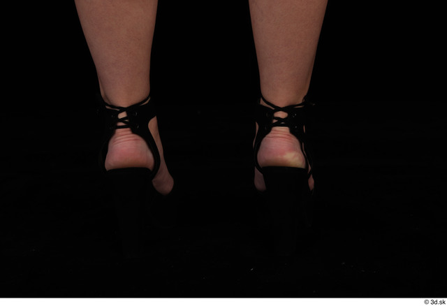 Foot Woman Casual Shoes Slim Studio photo references