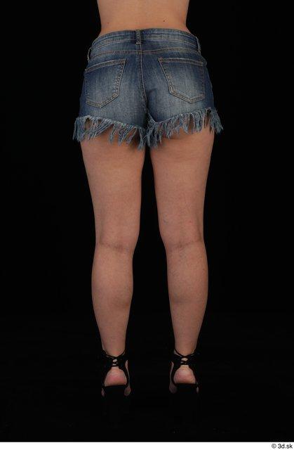 Leg Woman Casual Shorts Slim Studio photo references