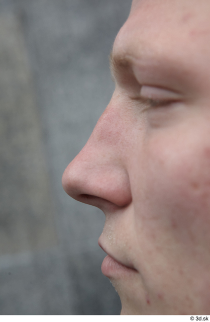 Nose Man White Casual Slim Street photo references