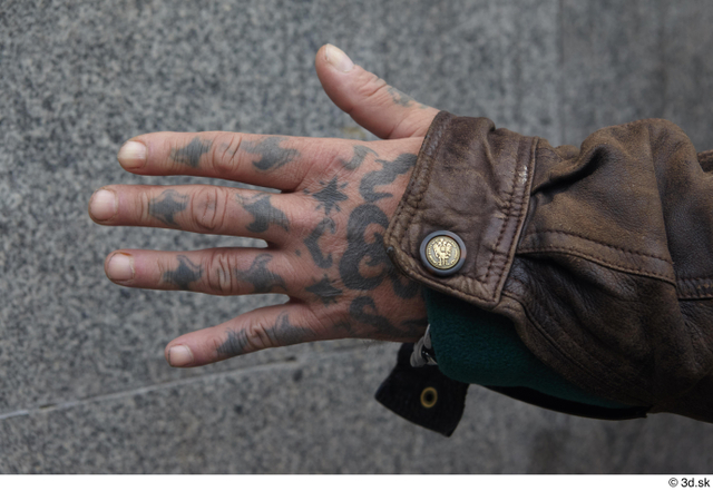 Hand Man White Casual Average Street photo references