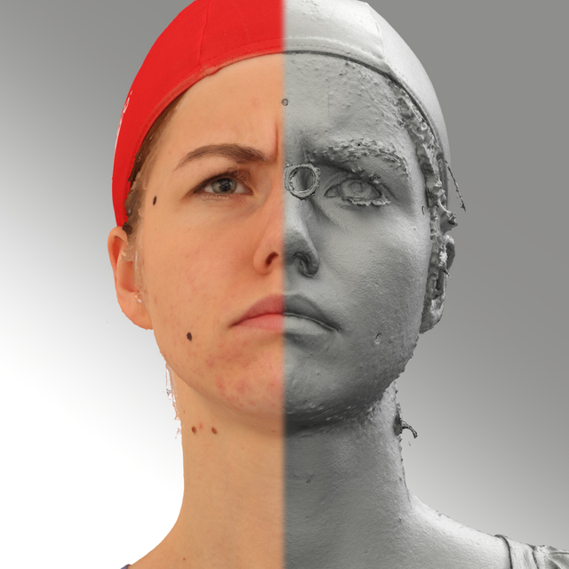 Head Woman White 3D Scans