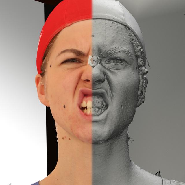 Head Woman White 3D Scans