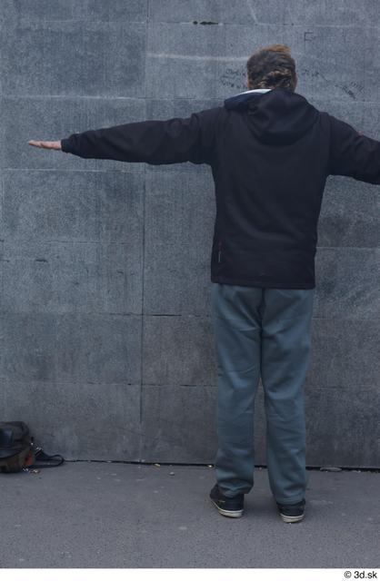 Whole Body Man T poses White Casual Average Standing Street photo references