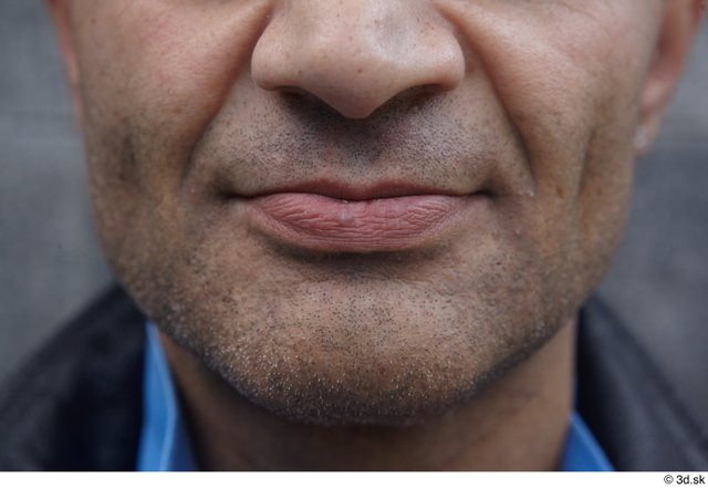 Mouth Man White Casual Average Street photo references