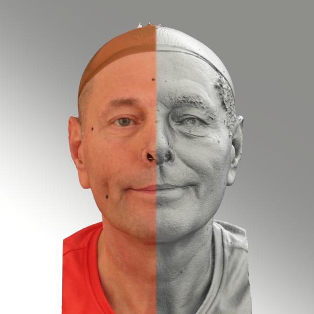 Head Man White 3D Scans