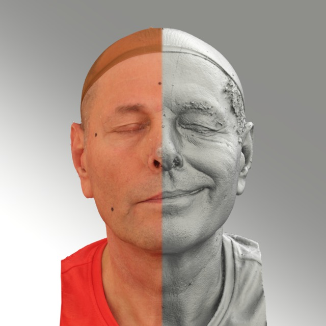 Head Man White 3D Scans