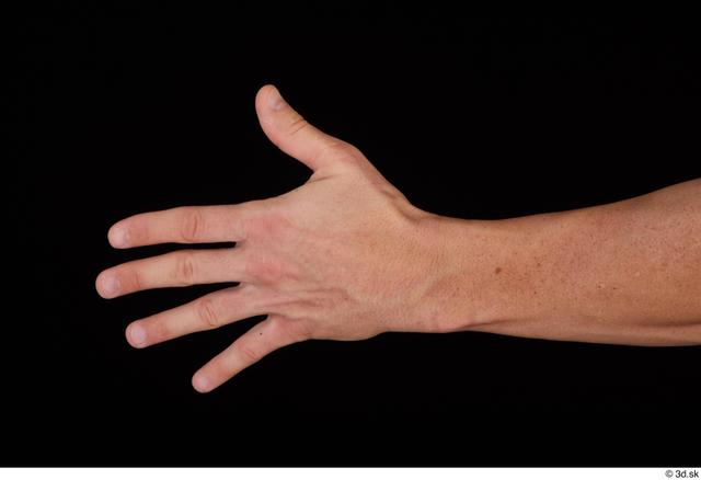 Hand Man White Athletic Studio photo references