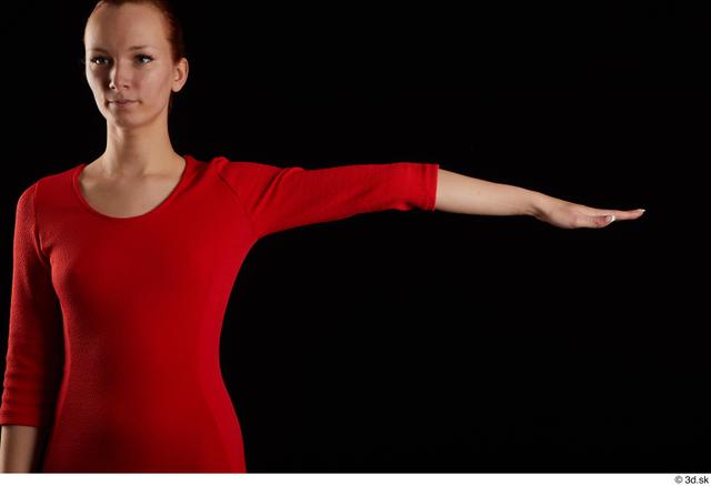Arm Woman Dress Slim Studio photo references
