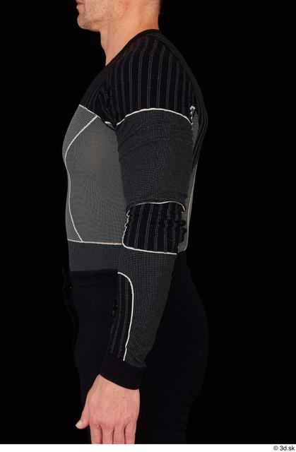 Arm Upper Body Man White Underwear Muscular Studio photo references