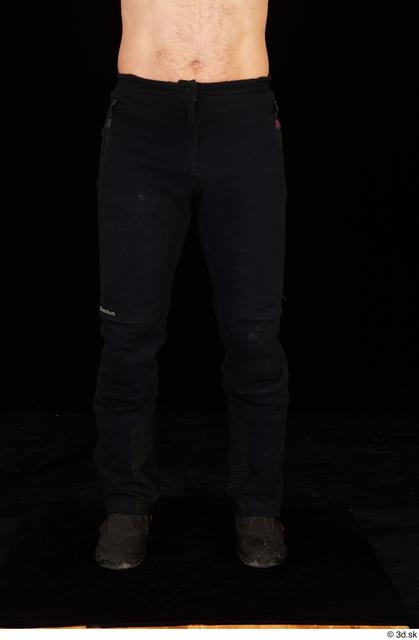Leg Man White Trousers Muscular Studio photo references