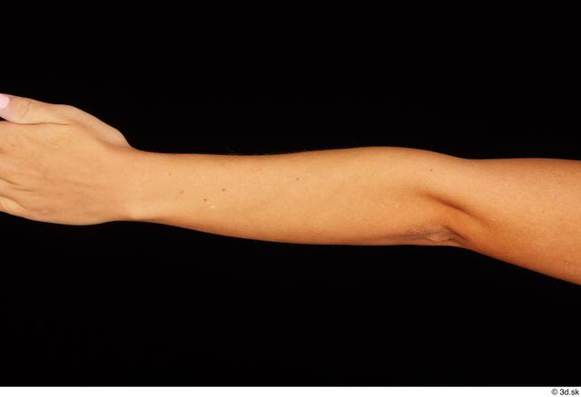 Forearm Woman White Nude Slim Studio photo references