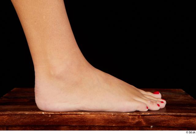 Foot Woman White Nude Slim Studio photo references