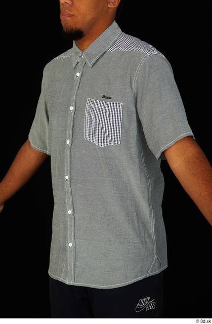 Upper Body Man Black Shirt Average Studio photo references