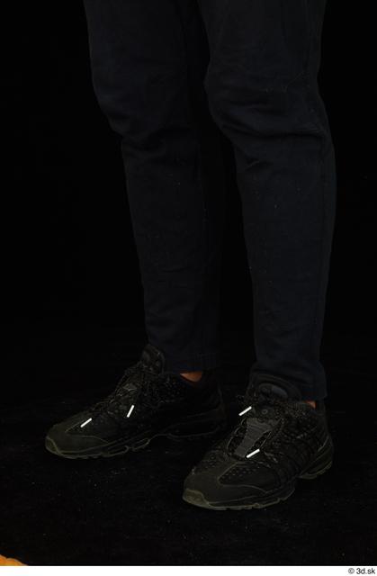 Calf Man Black Pants Average Studio photo references