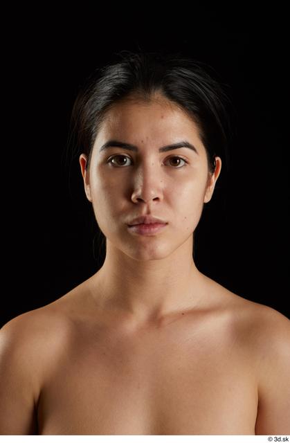 Head Woman Asian Slim Studio photo references
