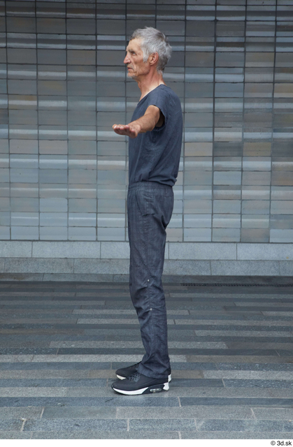 Whole Body Man T poses White Casual Underweight Standing Street photo references