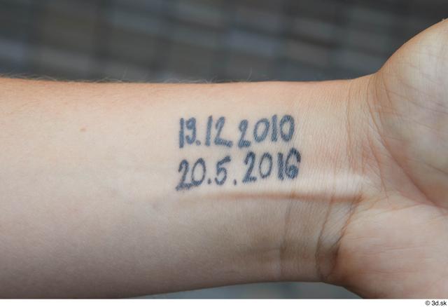 Arm Man White Tattoo Casual Average Street photo references