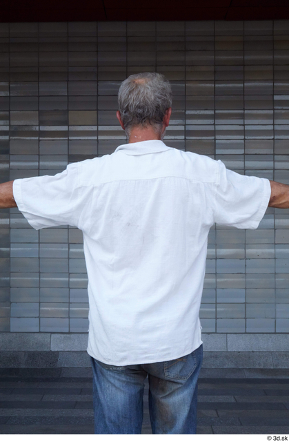 Upper Body Man White Casual Average Street photo references
