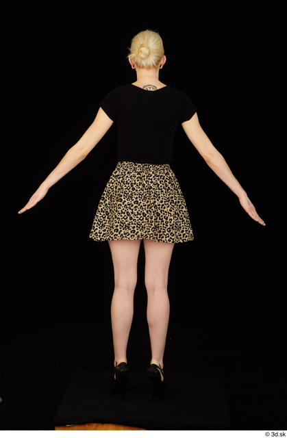 Whole Body Woman White Shirt Skirt Average Standing Studio photo references