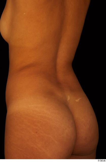 Hips Back Bottom Woman Black Nude Slim Studio photo references