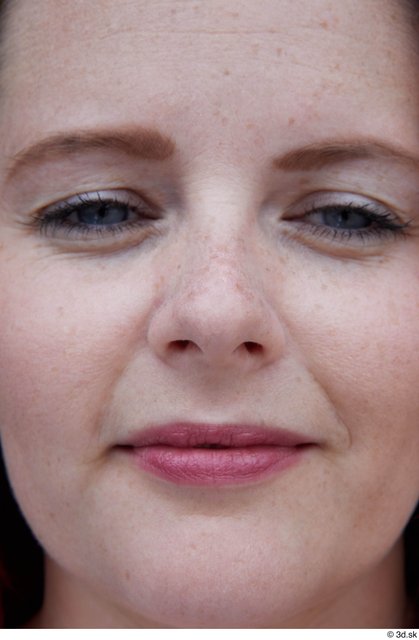 Nose Woman White Casual Average Street photo references
