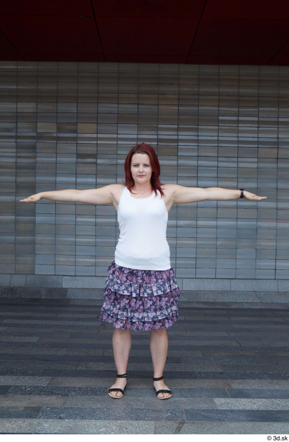Whole Body Woman T poses White Casual Average Standing Street photo references